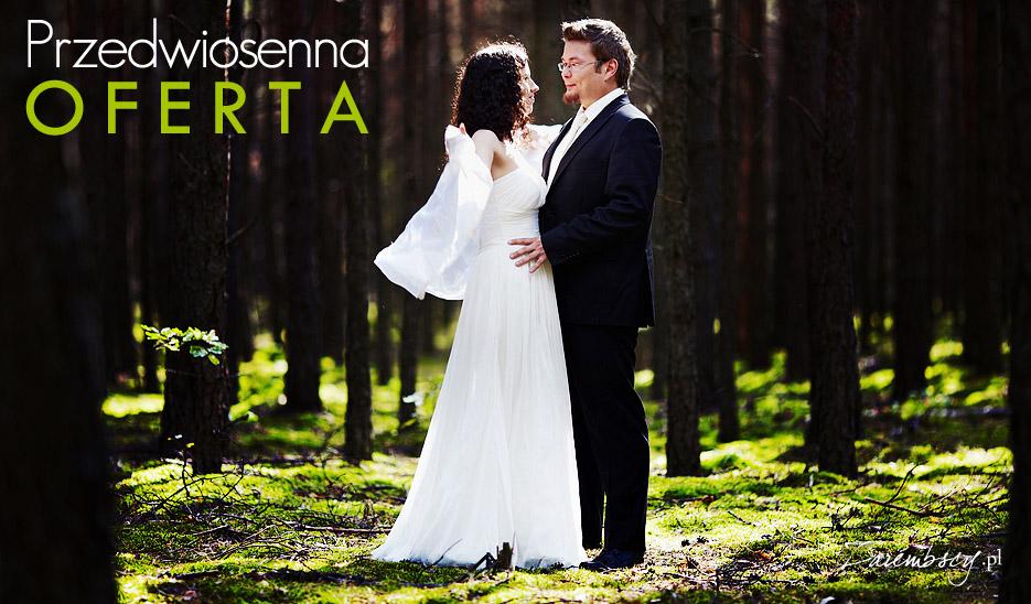 Przedwiosenna oferta fotografii ślubnej