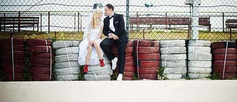 Sesja ślubna na torze w Słomczynie